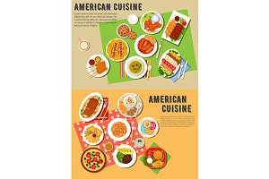 American cuisine dishes