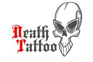 Gothic stylized skull