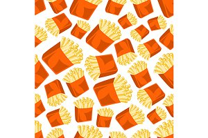Crispy french fries pattern