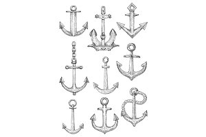 Sailing ships admiralty anchors