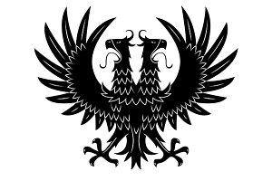Double headed heraldic eagle