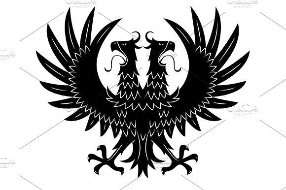 Double headed heraldic eagle