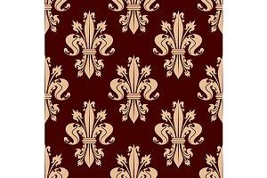 Fleur-de-lis floral seamless pattern