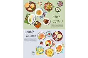 Dutch and danish cuisine dishes