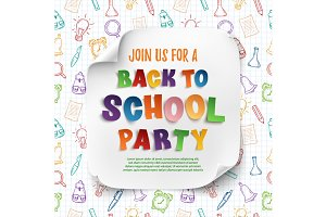 Back To School Party poster.