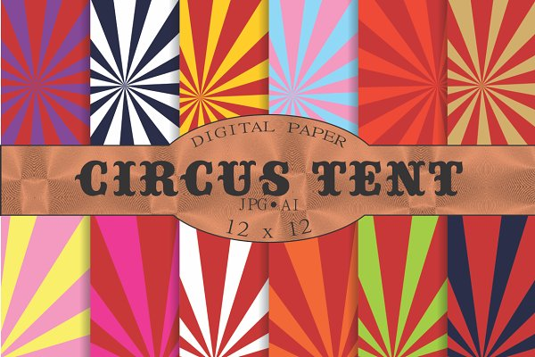 Circus tent stripey backgrounds