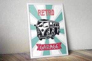 Retro Bus Print