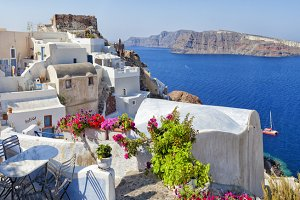 Summer background.Greek islands.