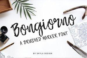 Brush marker font - Bongiorno