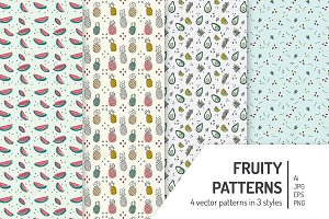 Seamless Fruity Patterns