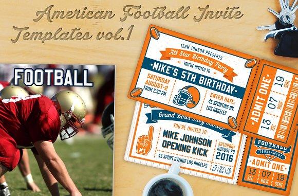 american football invite templates 1 invitation templates
