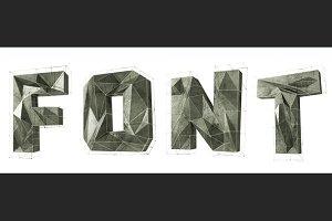3D metal alphabet