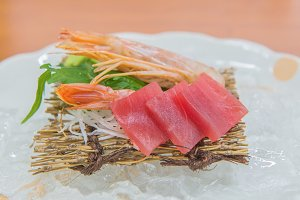 Salmon raw sashimi
