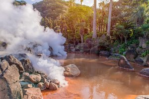 hot spring (Hell) in Beppu Japan.