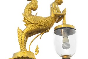 golden light bulb for decoration