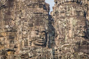 Bayon Castle in siem reap Cambodia.