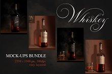 Whiskey Rum Brandy Mock-ups Bundle