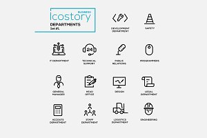 Office Departments - Pictograms Set
