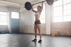 Fit female athlete