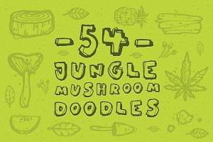 Jungle Mushroom Doodles
