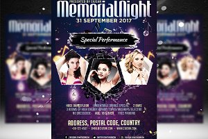 Memorial Night Flyer Template
