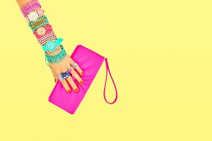 Fashion Accessories Set. Outfit. Minimal Style