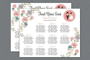 wedding seating chart template templates creative market