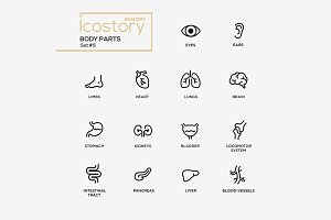 Body Parts - Pictograms Set