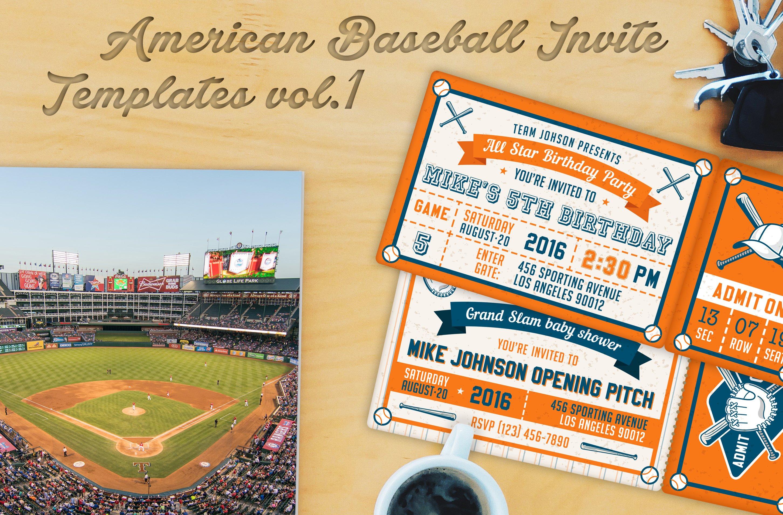 Baseball Ticket Party Invites 2