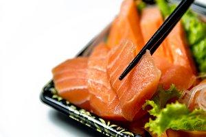 Salmon Sashimi slices