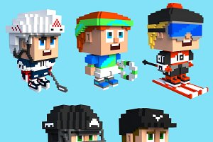 Cute and creative cubic characters.