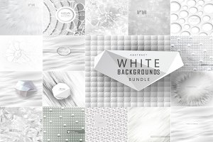Abstract white backgrounds bundle