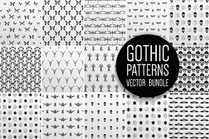 Hand drawn patterns set