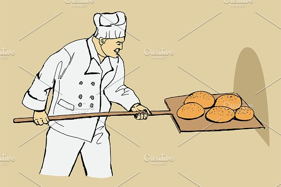 Baker. Vector illustration. - Illustrations