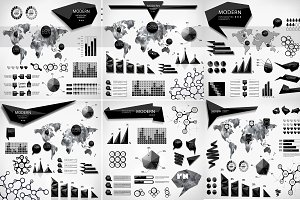 Modern elements of infographics