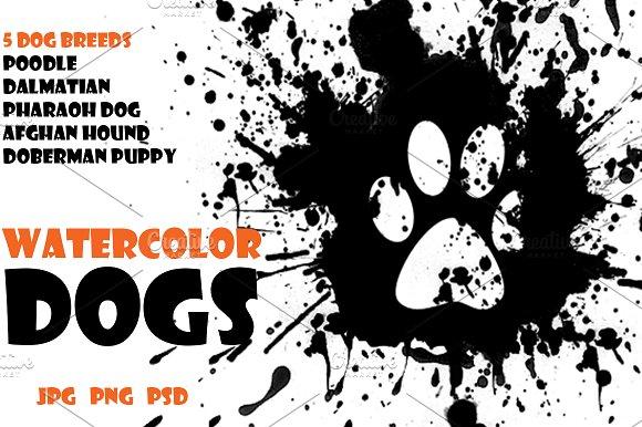 Watercolor Animals Set - DOGS Vol. 6 - Illustrations