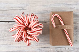 Candy Canes and Christmas Present