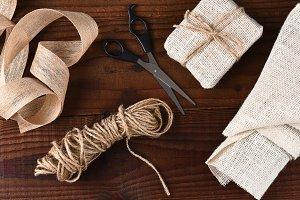 Fabric Christmas Gift Wrapping