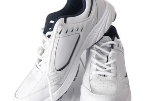 Pair white of trainers