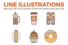 Perfect Coffee and Desserts Icons