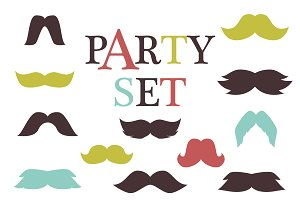Retro party set vector