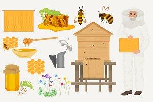 Beekeeping icons + bonus image
