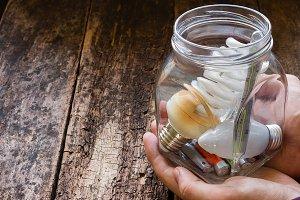 glass jar of hazardous waste