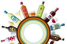 Alcohol drinks backgrounds design.