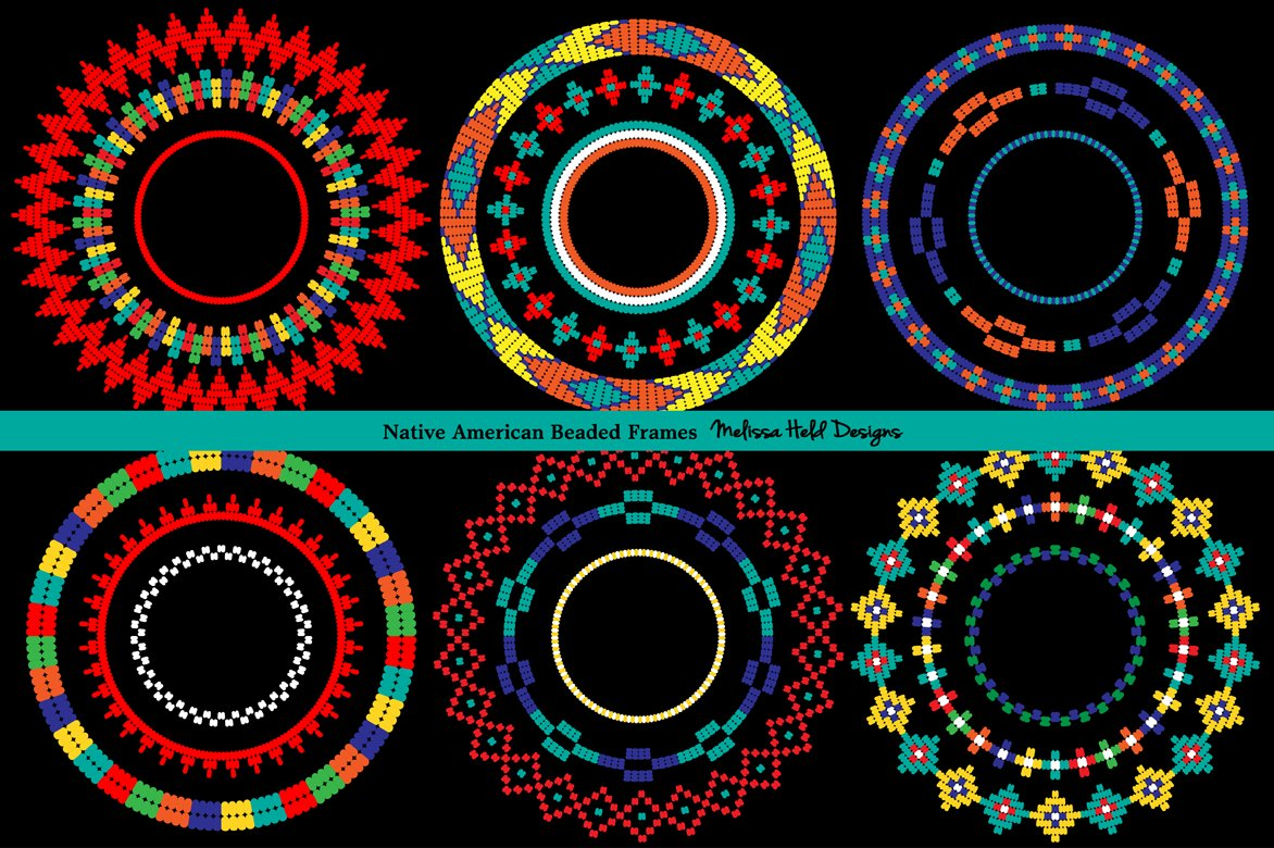 Native American Beaded Frames ~ Graphic Patterns ~ Creative Market