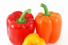 Three fresh peppers