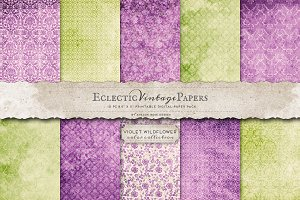 Printable Papers - Violet Wildflower