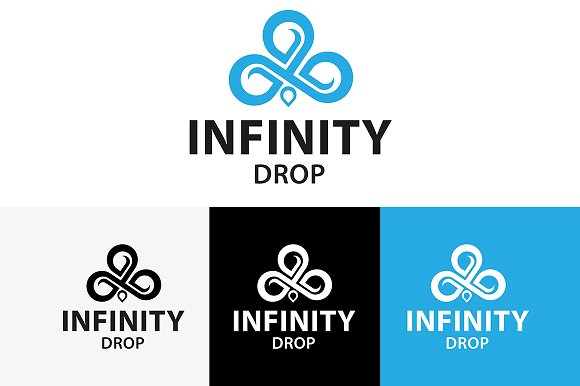 Infinity Drop Logo in Logo Templates - product preview 1