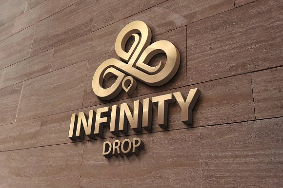 Infinity Drop Logo in Logo Templates - product preview 2