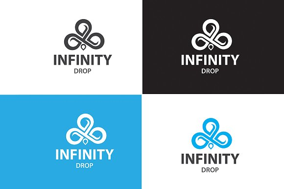 Infinity Drop Logo in Logo Templates - product preview 3